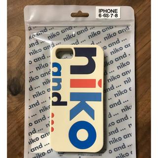ニコアンド(niko and...)の送料込み!大人気✨Niko and…オリジナルロゴiPhoneケース2(iPhoneケース)