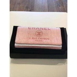 シャネル(CHANEL)の【専用】春色  シャネル 長財布 ドーヴィル ピンク 34030604(財布)