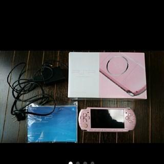 プレイステーション(PlayStation)の【再値下げ‼️】PSP 本体 ブロッサムピンク PSP-3000(携帯用ゲーム機本体)