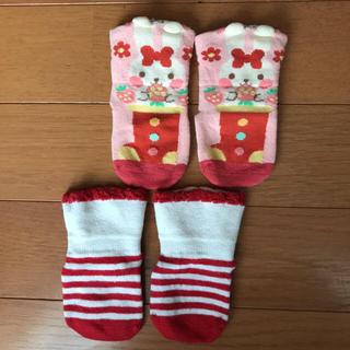 キッズズー(kid's zoo)の靴下2足セット♡女の子♡ベビー(靴下/タイツ)