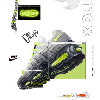 ナイキ(NIKE)のエアマックス95 イエロー ネオン AIR MAX 95 Yellow(スニーカー)