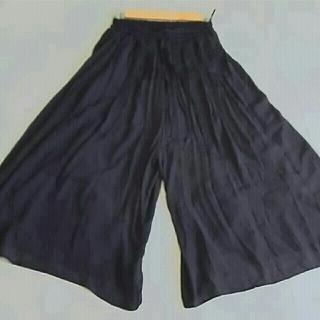 シマムラ(しまむら)のpink様専用 スカンツ ガウチョパンツ 黒(カジュアルパンツ)