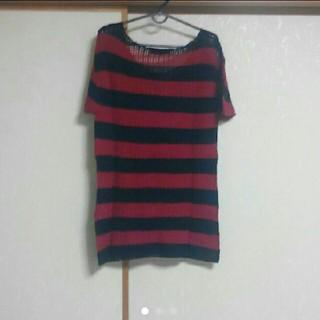 グラッサム(GRASUM)のグラッサム ボーダーニットTシャツ Grasum(Tシャツ/カットソー(半袖/袖なし))