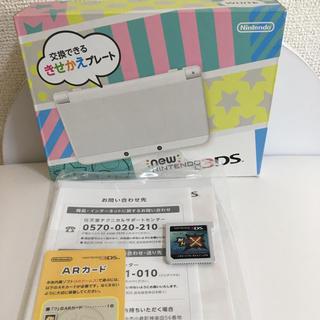 ニンテンドー3DS(ニンテンドー3DS)のNEW3DS  ホワイト  モンハンクロス(家庭用ゲームソフト)