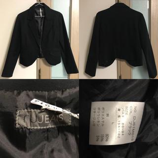 アールユー(RU)のブラックジャケット(ノーカラージャケット)