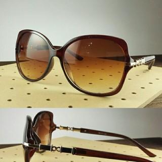 ファッションサングラスBT-V1263-1 ブラウン/ブラウンハーフ レディース(サングラス/メガネ)