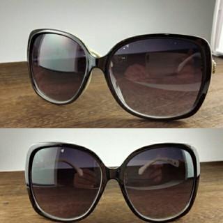 ファッションサングラスBT-V11262-1 ブラック/ホワイト スモークハーフ(サングラス/メガネ)
