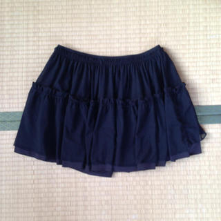 ジーユー(GU)のミニ黒キュロット300円(キュロット)