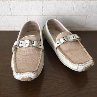 ダイアナ(DIANA)のレア 美品 ダイアナ ハラコ×ベルト スポーティなスニーカー(ローファー/革靴)