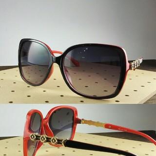 ファッションサングラスBT-V11262-1 ブラック/レッド レディース(サングラス/メガネ)