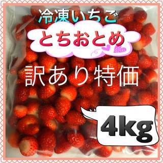 冷凍いちご  とちおとめ  訳あり4kg  (フルーツ)