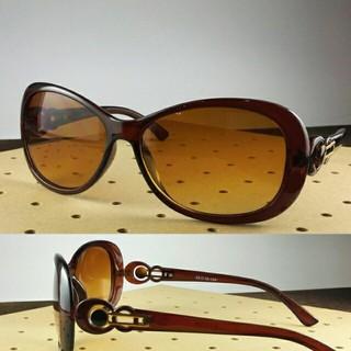 ファッションサングラスBT-V8799-1 ブラウン/ブラウンハーフ レディース(サングラス/メガネ)