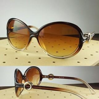 おしゃれサングラス ブラウンBT-V9456-1/ブラウンハーフ レディース(サングラス/メガネ)