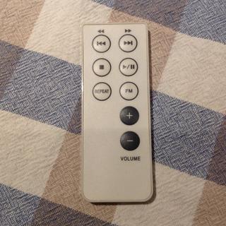 ムジルシリョウヒン(MUJI (無印良品))の無印良品 壁掛けCD リモコン ほぼ新品(ポータブルプレーヤー)