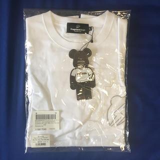 フラグメント(FRAGMENT)の断 Lサイズ BE@RTEE X flagment design ホワイト(Tシャツ/カットソー(半袖/袖なし))