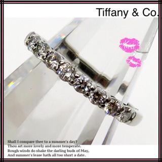 ティファニー(Tiffany & Co.)のティファニー Pt950(プラチナ950)一列ハーフエタニティダイヤモンドリング(リング(指輪))
