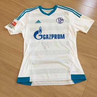 アディダス(adidas)のFC Schalke 04 シャルケ 内田篤人選手直筆サイン入りユニホーム M(スポーツ選手)