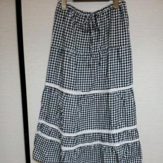 サンカンシオン(3can4on)の値下ギンガムチェック☆マキシスカート(ロングスカート)