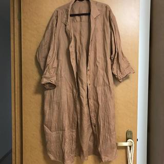 ジーユー(GU)のリネンシャツ(シャツ/ブラウス(半袖/袖なし))