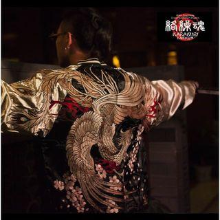 シャネル様専用⭐  絡繰魂◆M~2L◆本刺繍◆桜+鳳凰刺繍◆スカジャン◆和柄 (スカジャン)