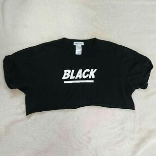 ウィゴー(WEGO)のBLACK 👕 へそだし Tシャツ(Tシャツ(半袖/袖なし))