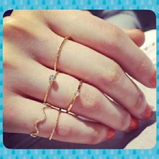 ☆5点 装飾 リング ゴールド☆(リング(指輪))