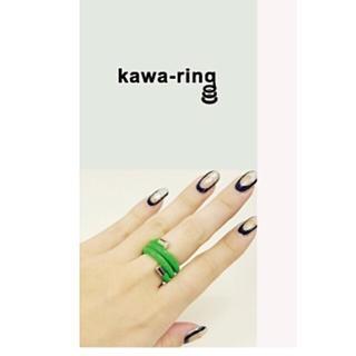 イアパピヨネ(ear PAPILLONNER)の未使用    kawa-kawa  レザーリング   赤(リング(指輪))