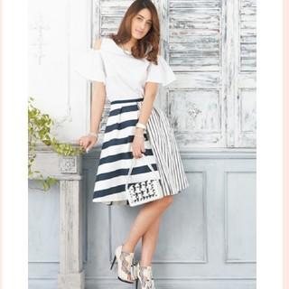チェスティ(Chesty)の新品♡Chesty♡ランダムボーダースカート♡チェスティ♡ストライプ♡1(ひざ丈スカート)