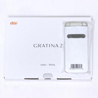 キョウセラ(京セラ)の新品 au GRATINA2 ホワイト 一括購入・残債なし(携帯電話本体)