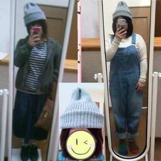 ライトオン(Right-on)の【426】グレーのニット帽(ニット帽/ビーニー)