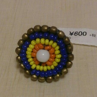 インド製*ビーズモチーフリング*新品未使用(リング(指輪))