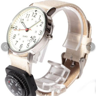 スリーフォータイム(ThreeFourTime)の新品 スリーフォータイム  コンパス付腕時計 定価3,218円🌸大幅値下げ‼️(腕時計)