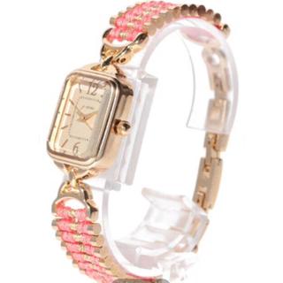 スリーフォータイム(ThreeFourTime)の新品 スリーフォータイム ビーズ糸巻きブレスウォッチ 🌸大特価セール‼️(腕時計)