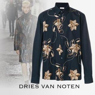 ドリスヴァンノッテン(DRIES VAN NOTEN)のDries Van Noten 花柄 刺繍 コットンシャツ(シャツ)