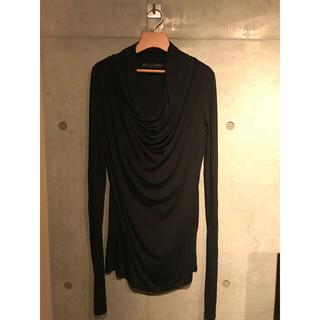 ユリウス(JULIUS)の新品未使用 JULIUS(ユリウス) 長袖 ドレープカットソー ブラック(Tシャツ/カットソー(七分/長袖))