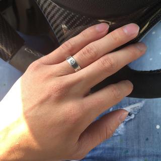 カルティエ(Cartier)のカルティエ ラブリング プラチナ 正規品(リング(指輪))
