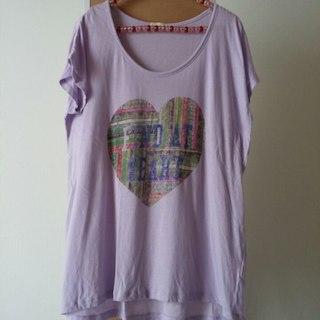 ロゴプリント パープル Tシャツ XL 一度のみの着用☆(その他)