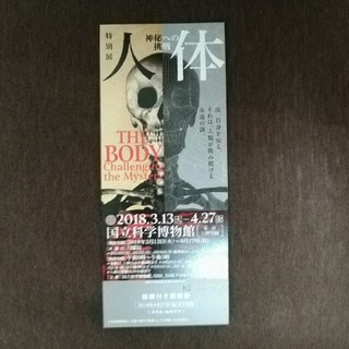 人体 神秘への挑戦 チケット(美術館/博物館)