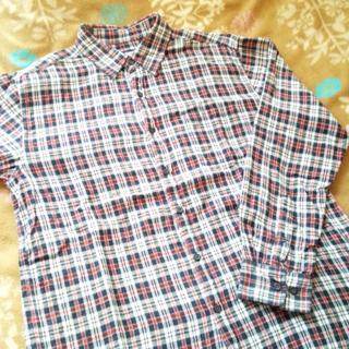シマムラ(しまむら)の長袖シャツ 赤×ネイビーのチェック Lサイズ(シャツ)