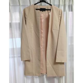 エムプルミエ(M-premier)の着用歴あり、M-PREMIER 襟なしオープン仕様のコート(スプリングコート)