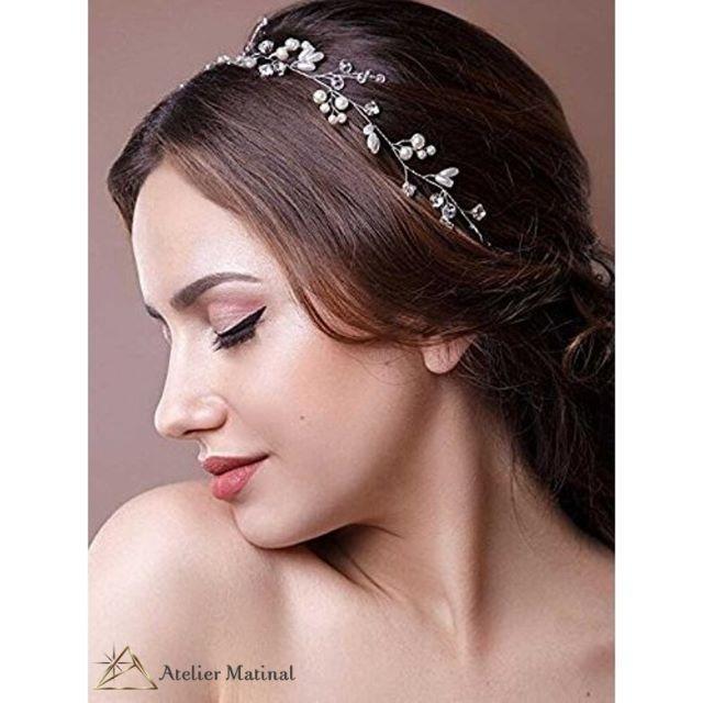 小枝モチーフ*パール×ビジューのヘッドドレス(ヘッドピース)自由自在♪ レディースのヘアアクセサリー(その他)の商品写真