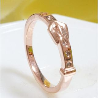 18KRGPゴールドCZシンプル上質リング gu1234e(リング(指輪))