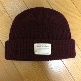 ウィゴー(WEGO)のニット帽 ボルドー色(ニット帽/ビーニー)