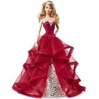 バービー(Barbie)のバービー コレクター 2015 ホリデーバービー(ぬいぐるみ)