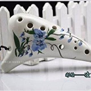 オカリナ ocarina アルトC 陶器製 凌霄花(ノウゼンカズラ) 初心者向け(その他)