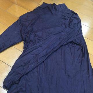 グンゼ(GUNZE)のグンゼ  タートルヒートテック  紫系  M〜L(アンダーシャツ/防寒インナー)