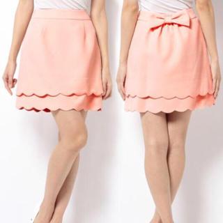 ロディスポット(LODISPOTTO)のLODISPOTTO フラワーモチーフスカラップスカート(ひざ丈スカート)