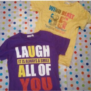 ニッセン(ニッセン)の半袖Tシャツ パープルM&イエローS 2枚組(Tシャツ(半袖/袖なし))