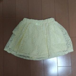 ジーユー(GU)のGU GIRLS レーススカパン120(スカート)