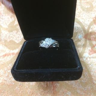新品未使用 ダイアモンド プラチナリング 指輪(リング(指輪))